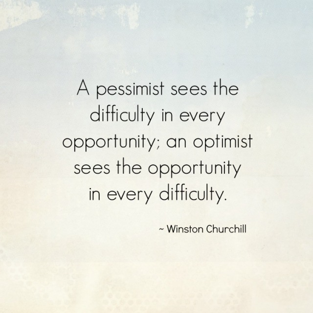 Winston Churchill quote about pessimists and optimists